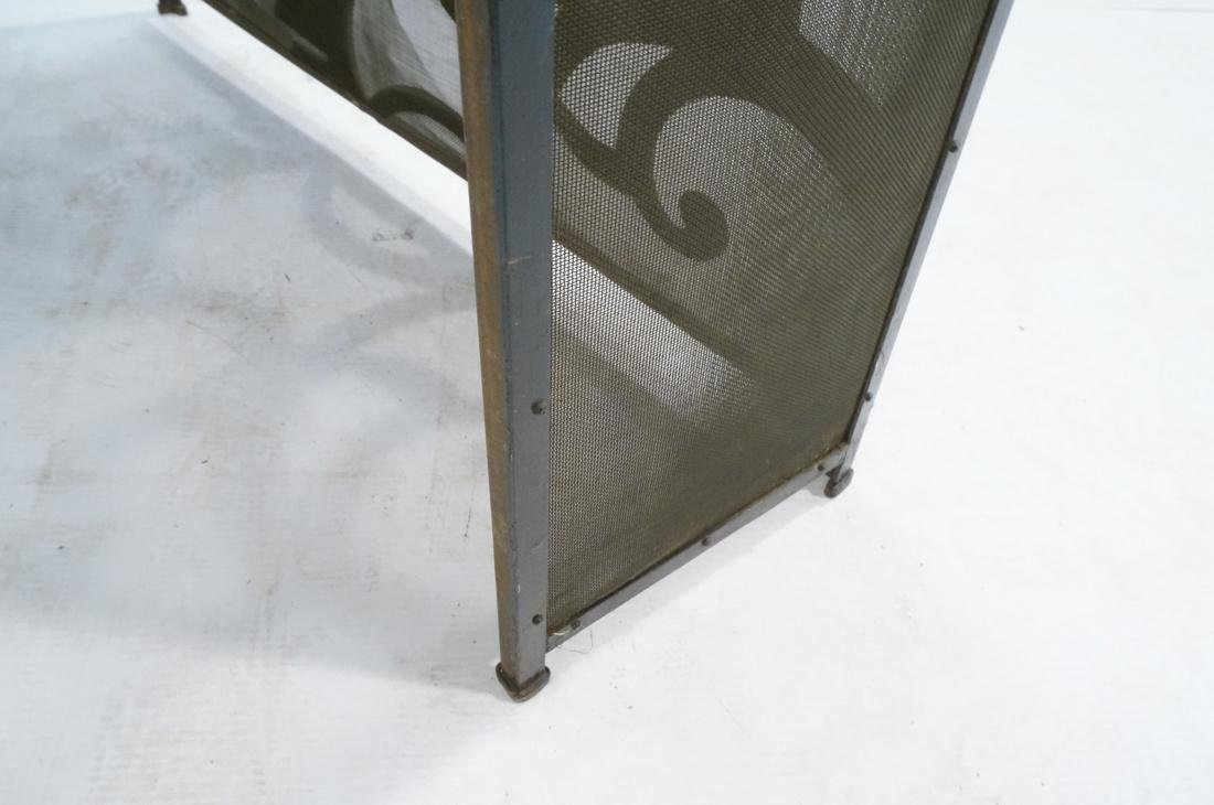 Art Deco Vintage Iron Console Table. Metal top on - 7
