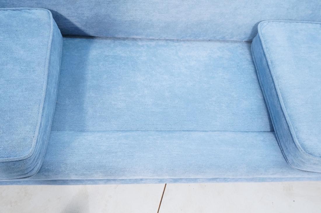 Modernist Teak Sofa Couch. Wedgwood Blue Fabric. - 9