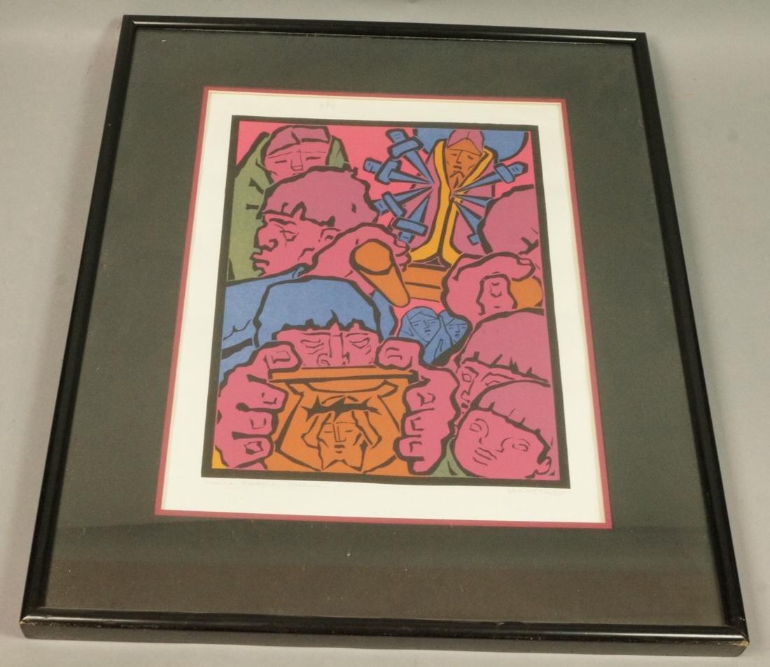 "JEAN CHARLOT Silkscreen Print ""Mexican Procession"