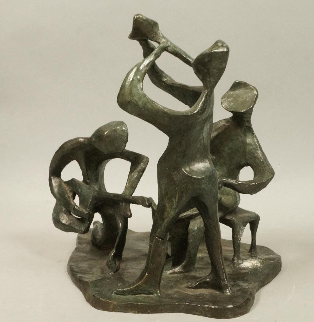 IRMA BARNESS Figural Bronze Sculpture Grouping. M - 7