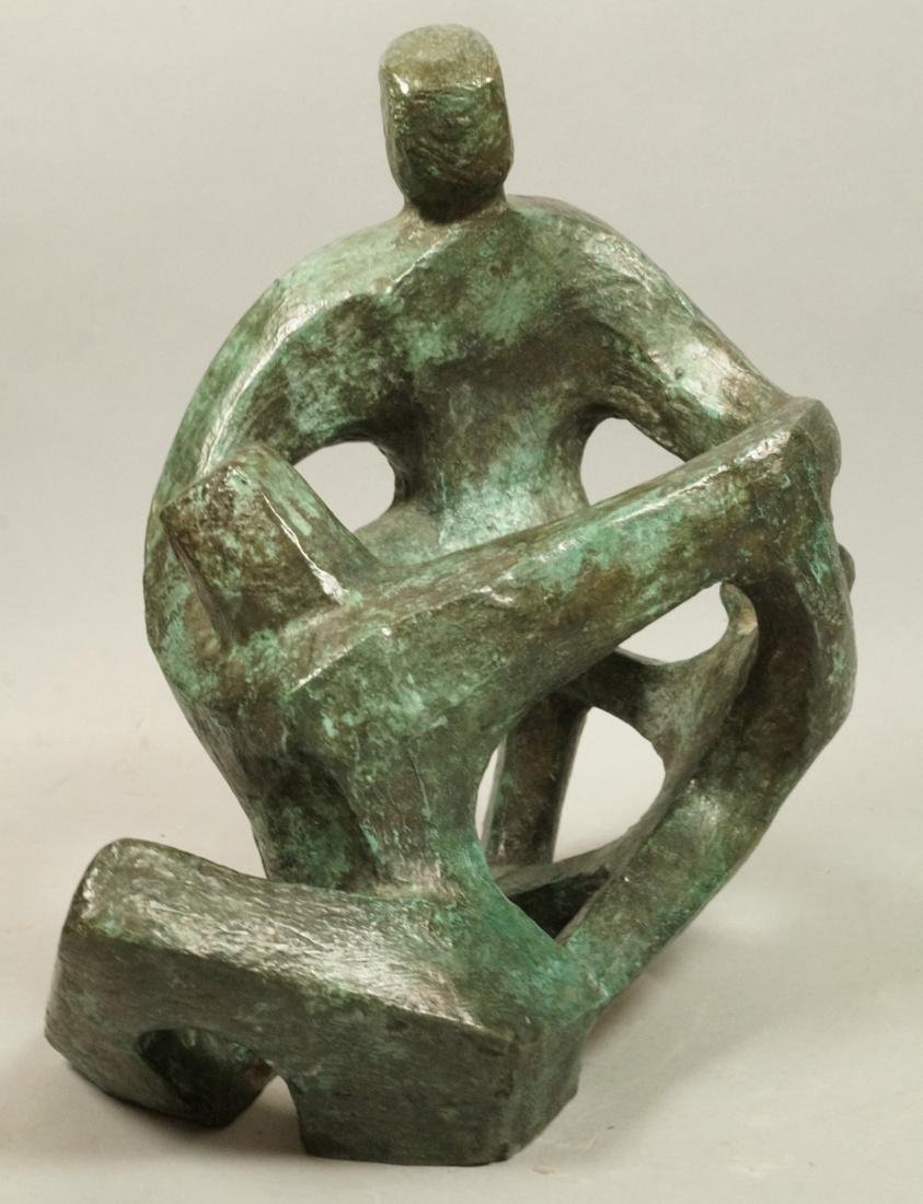 IRMA BARNESS Bronze Sculpture 2 Figures Extended