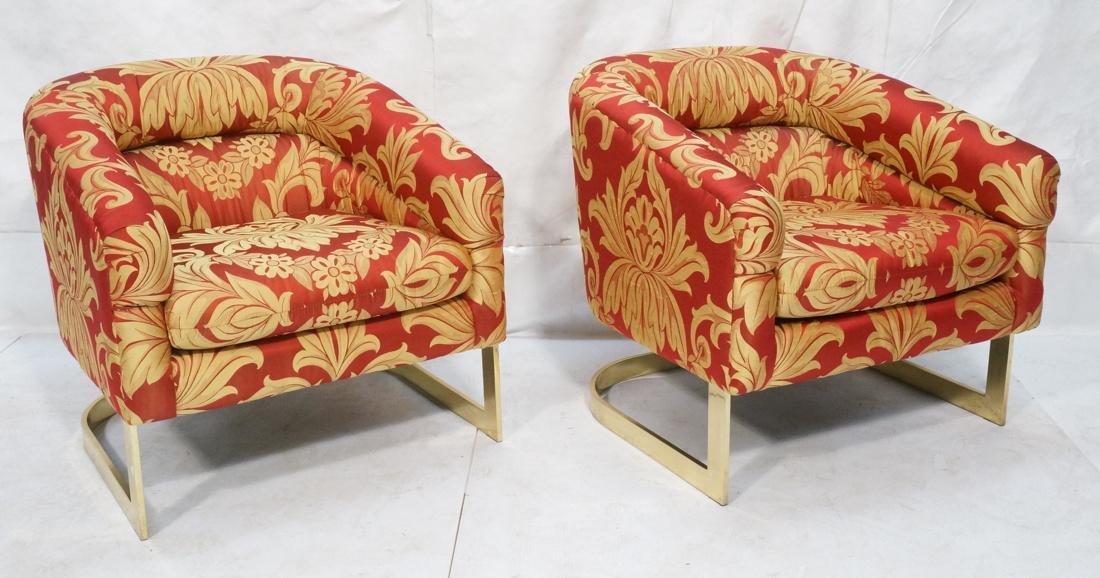 Pr MILO BAUGHMAN Modern Lounge Chairs. Wide flat