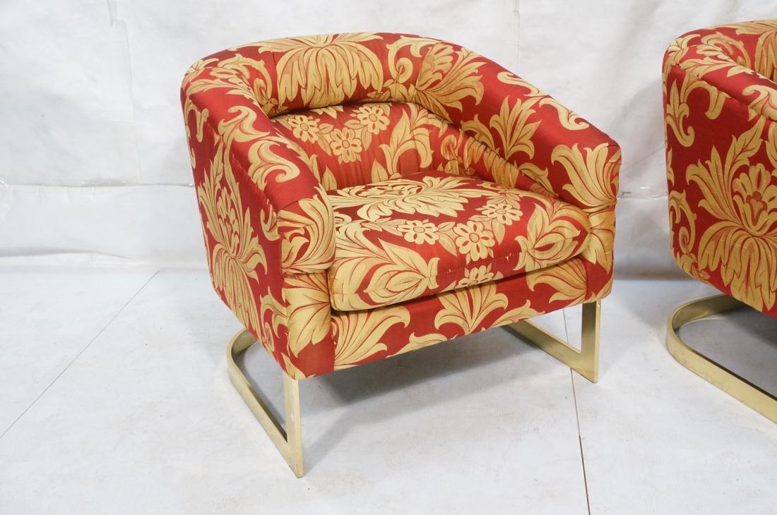 Pr MILO BAUGHMAN Modern Lounge Chairs. Wide flat - 2