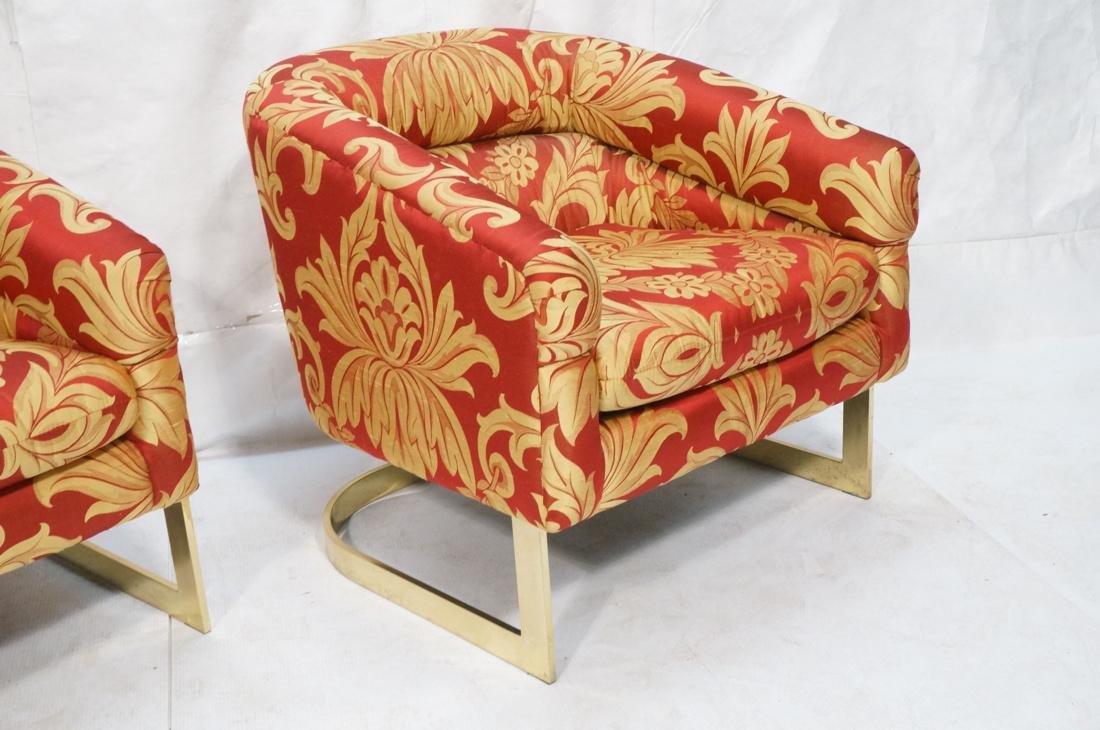 Pr MILO BAUGHMAN Modern Lounge Chairs. Wide flat - 3