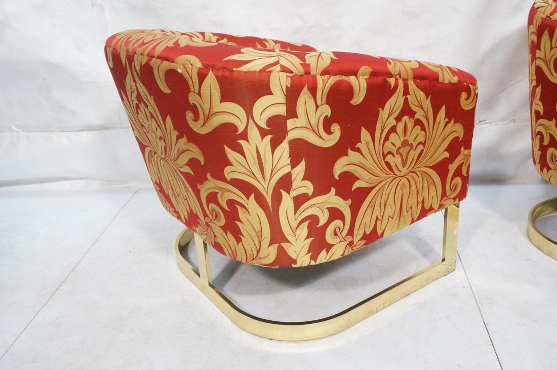 Pr MILO BAUGHMAN Modern Lounge Chairs. Wide flat - 8