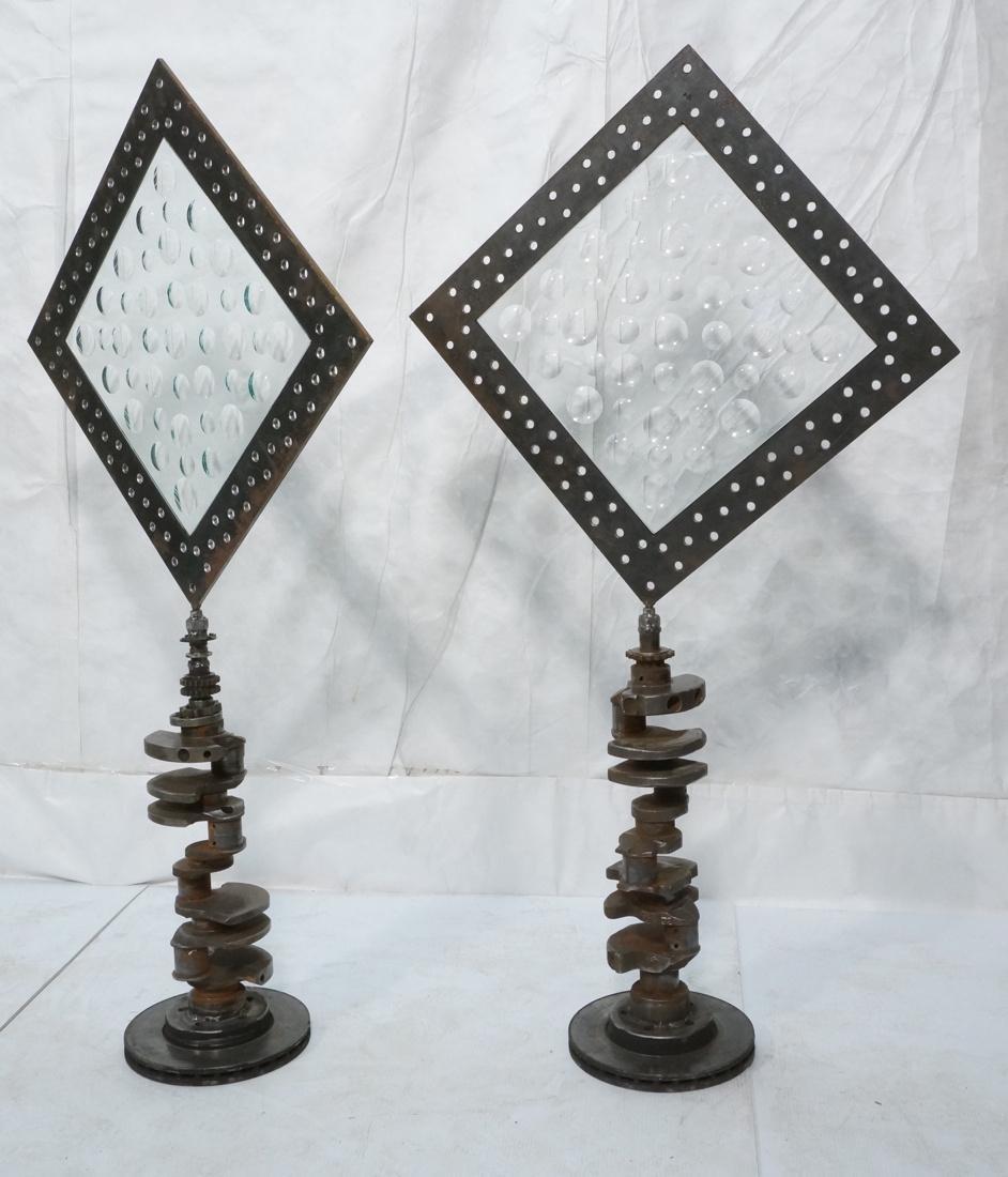 Pr Diamond Shaped Magiscope Industrial Sculptures