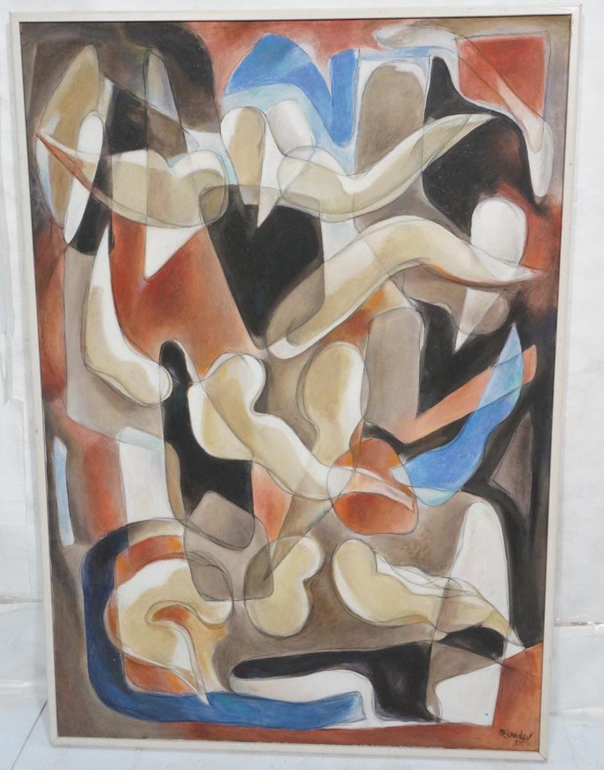 MAY BENDER Abstract Oil Painting. Various figural