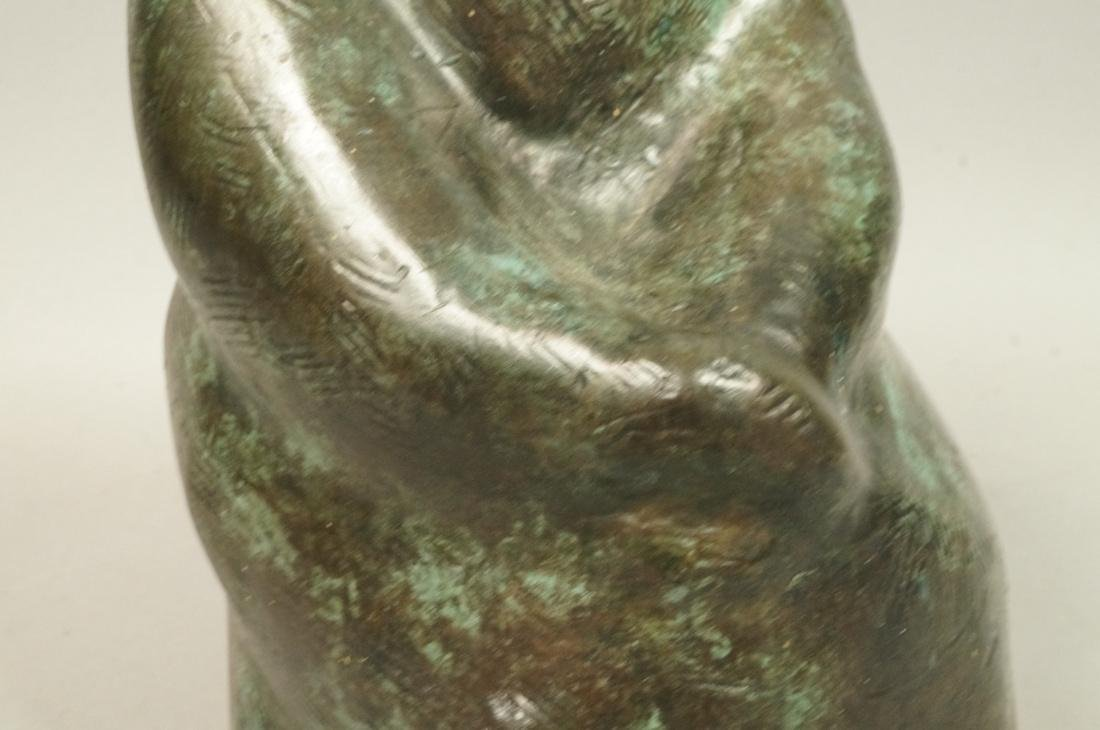 IRMA BARNESS Bronze Figural Sculpture Seated Woma - 3