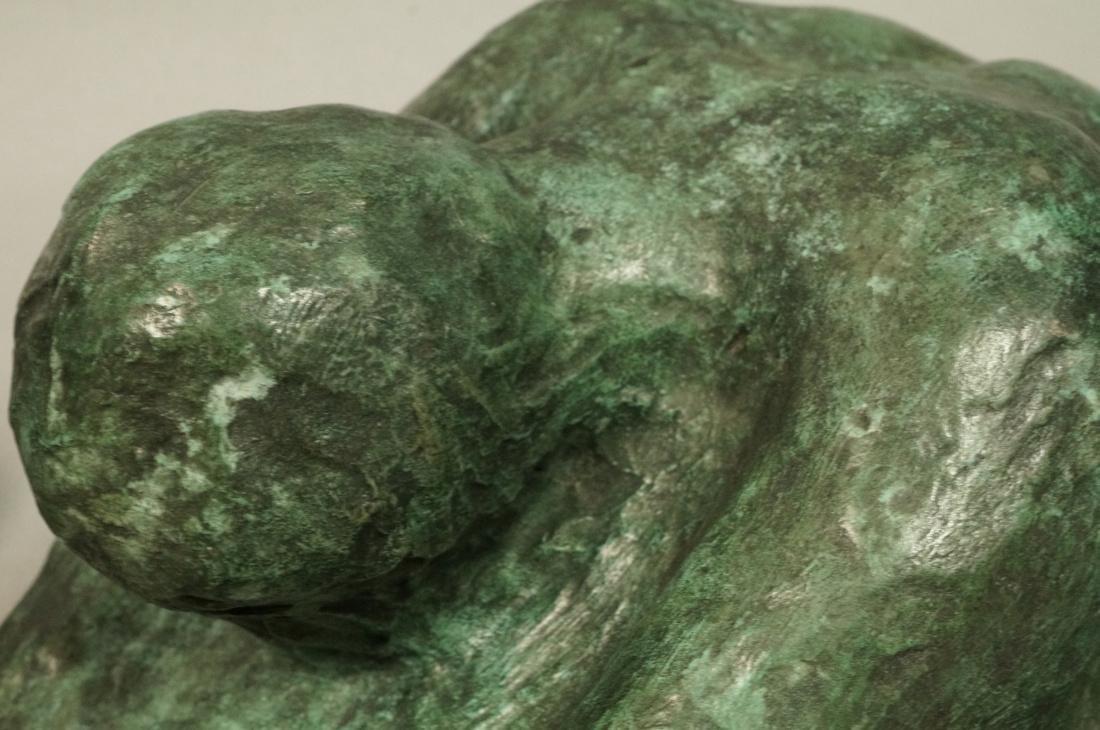 2 Pc IRMA BARNESS Bronze Figural Sculpture & Clay - 5