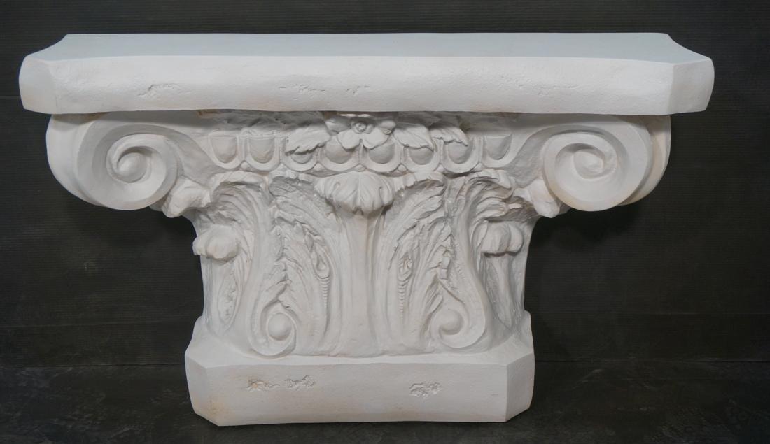 Cast Architectural Capital Pediment Table. Unknow