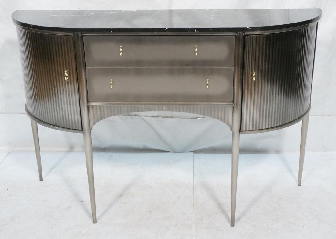 Contemporary Decorator Console Sideboard. Stainle