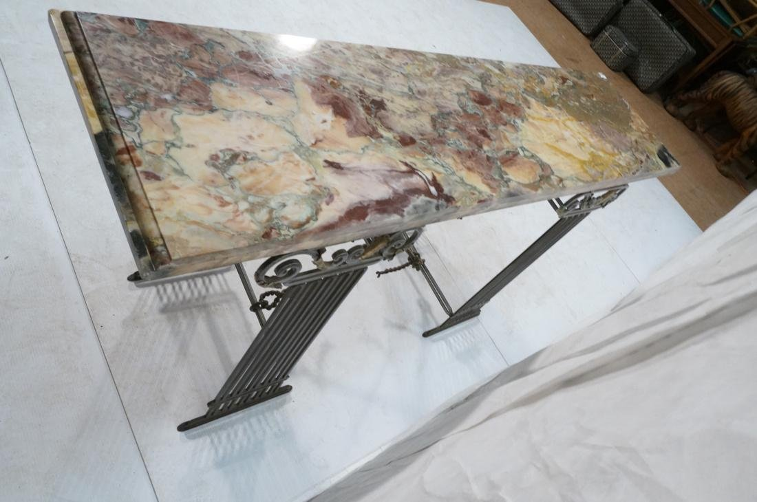 Marble Top Hall Console Decorator Table. Metal le - 10