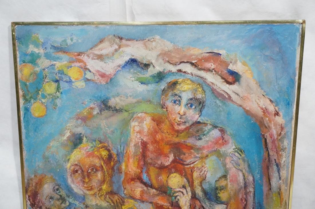 """SABINA TEICHMAN Oil on Canvas """"Family"""". Framed. N - 2"""