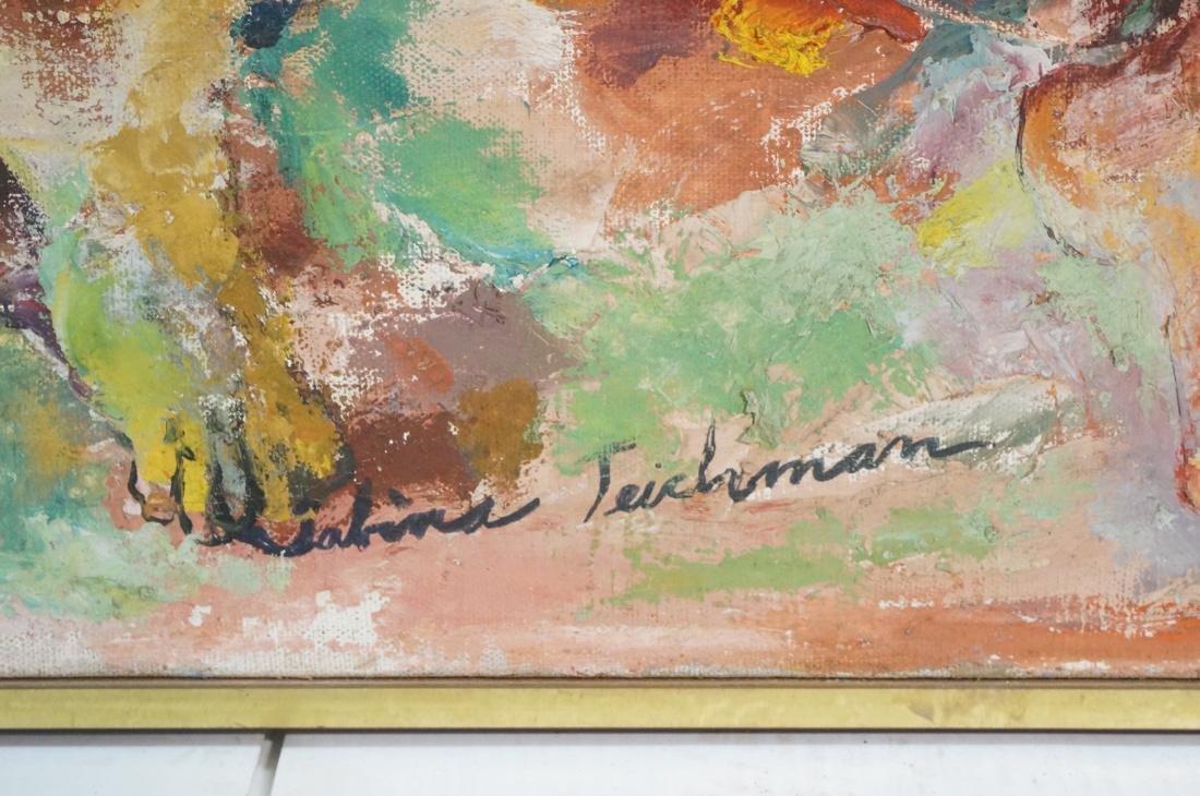 """SABINA TEICHMAN Oil on Canvas """"Family"""". Framed. N - 4"""