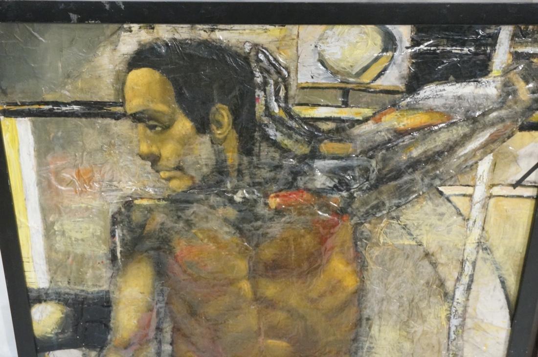 2 DARNELL EDWARDS Male Torso Art works. 1) Oil pa - 2