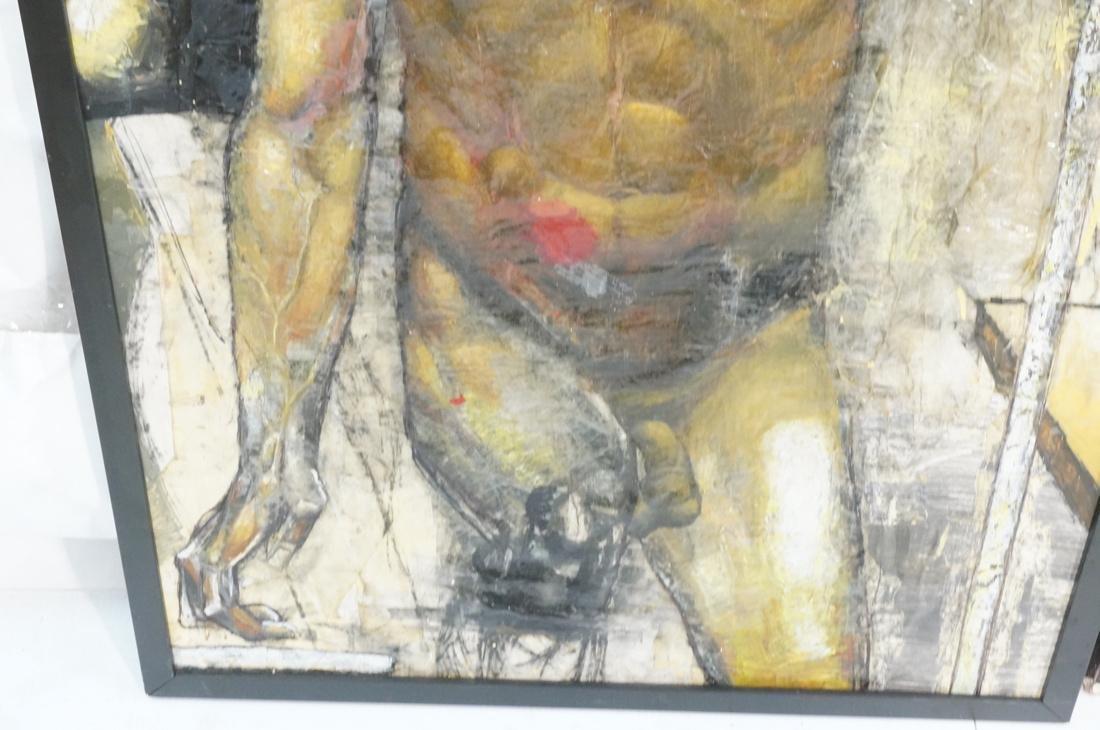 2 DARNELL EDWARDS Male Torso Art works. 1) Oil pa - 3