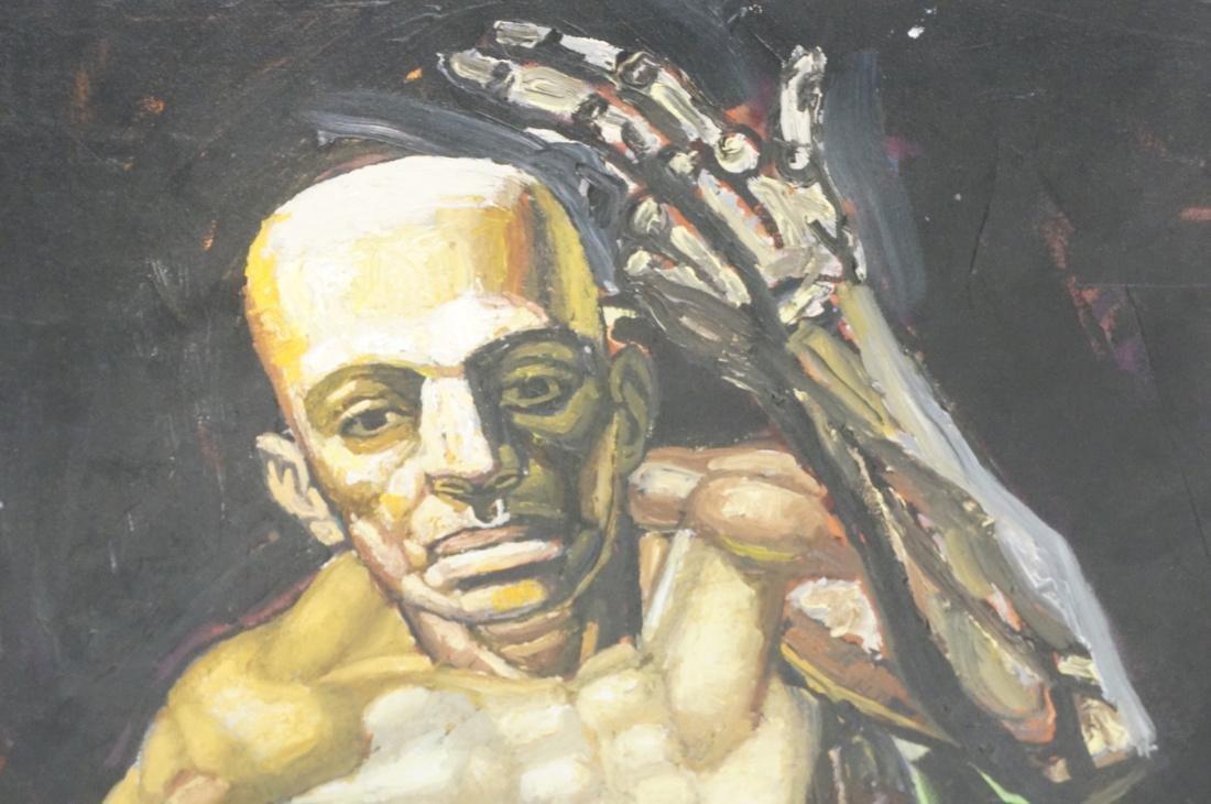 2 DARNELL EDWARDS Male Torso Art works. 1) Oil pa - 4