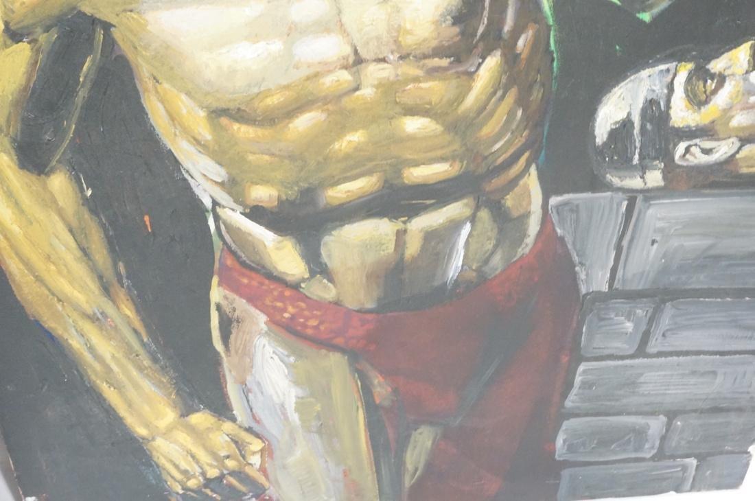 2 DARNELL EDWARDS Male Torso Art works. 1) Oil pa - 5