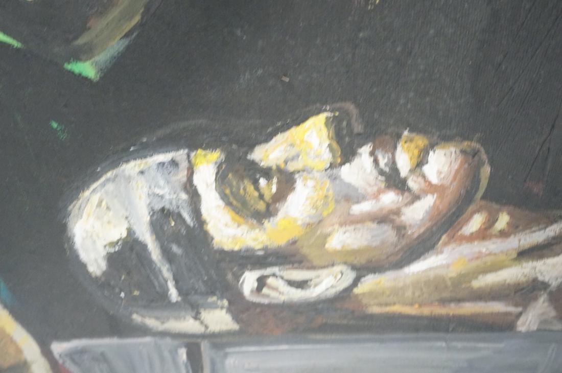 2 DARNELL EDWARDS Male Torso Art works. 1) Oil pa - 7