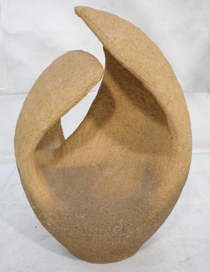Organic Modernist Ceramic Pottery Sculpture. Text