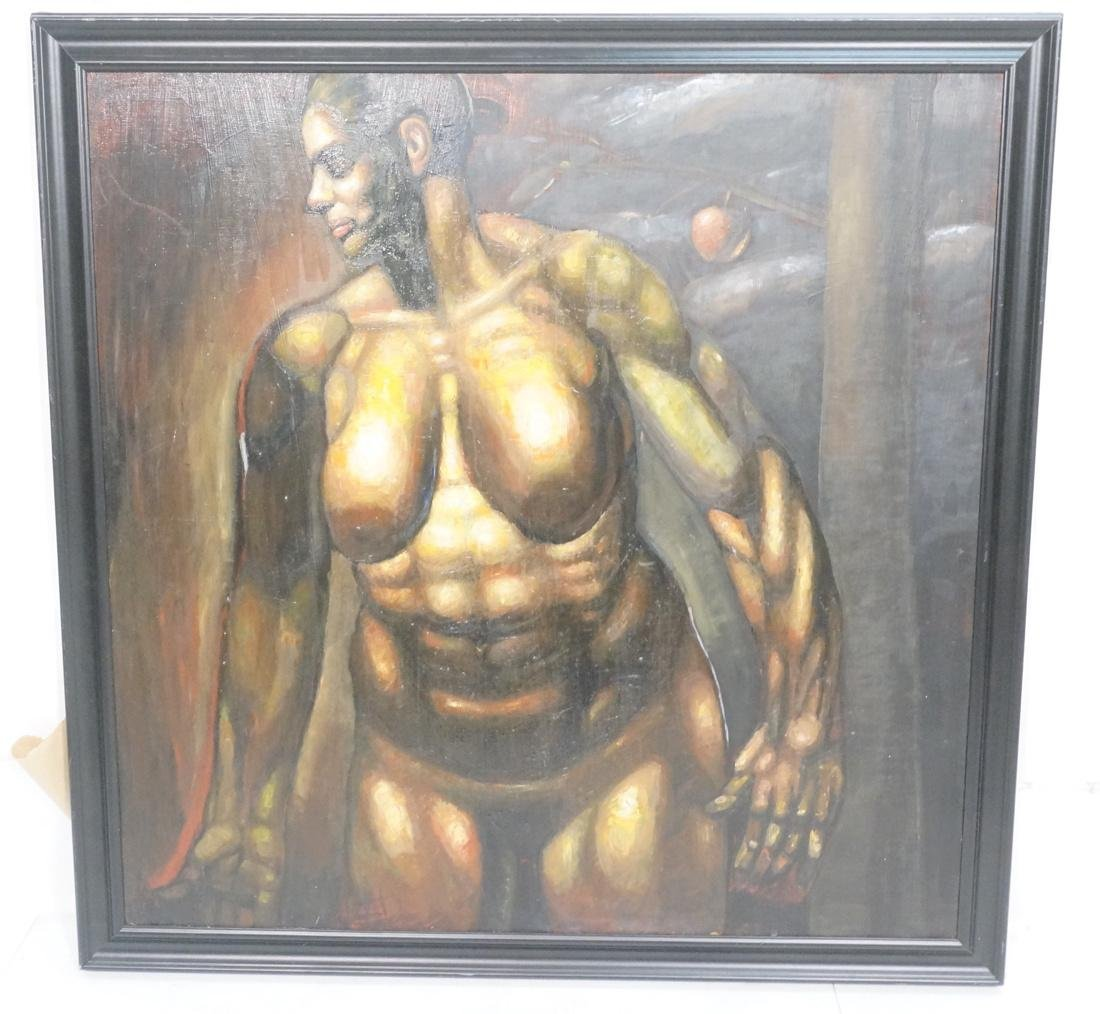 DARNELL EDWARDS Oil Painting Nude Torso Muscular
