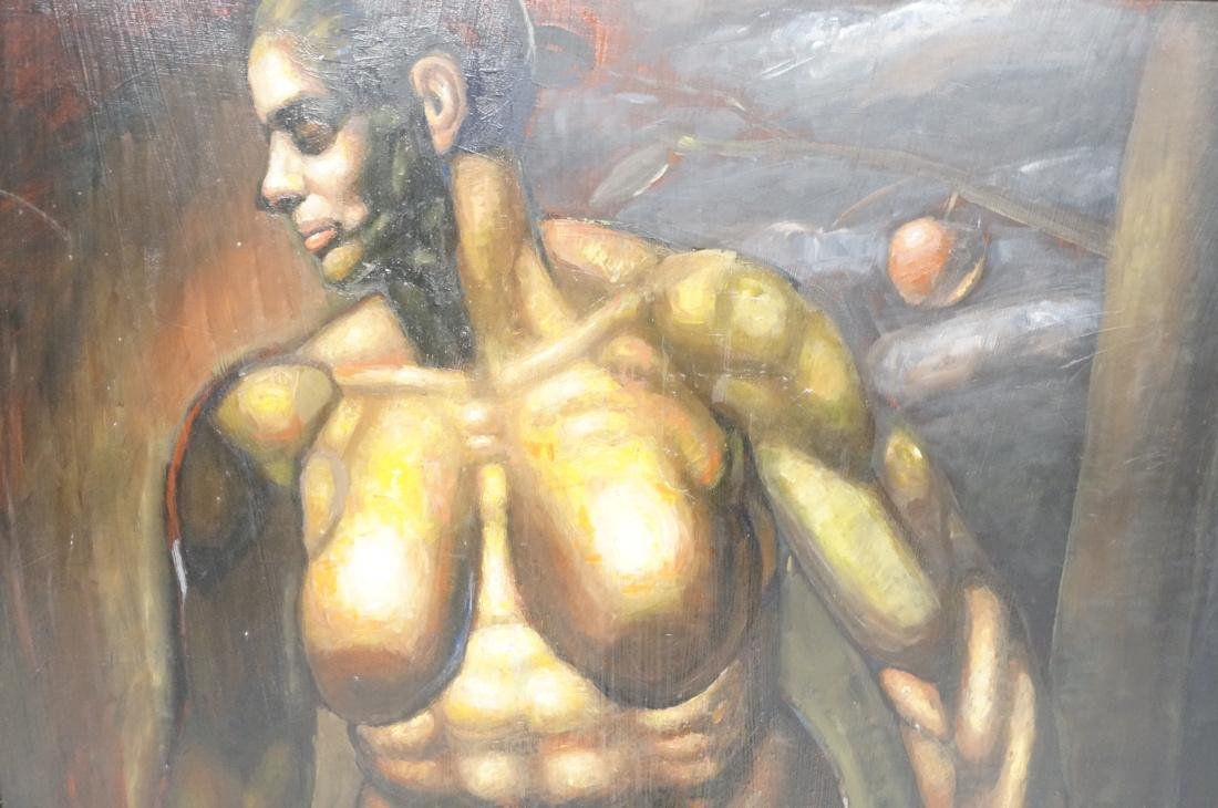 DARNELL EDWARDS Oil Painting Nude Torso Muscular - 2