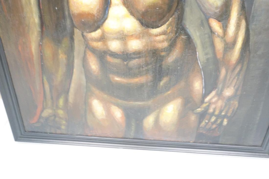 DARNELL EDWARDS Oil Painting Nude Torso Muscular - 3