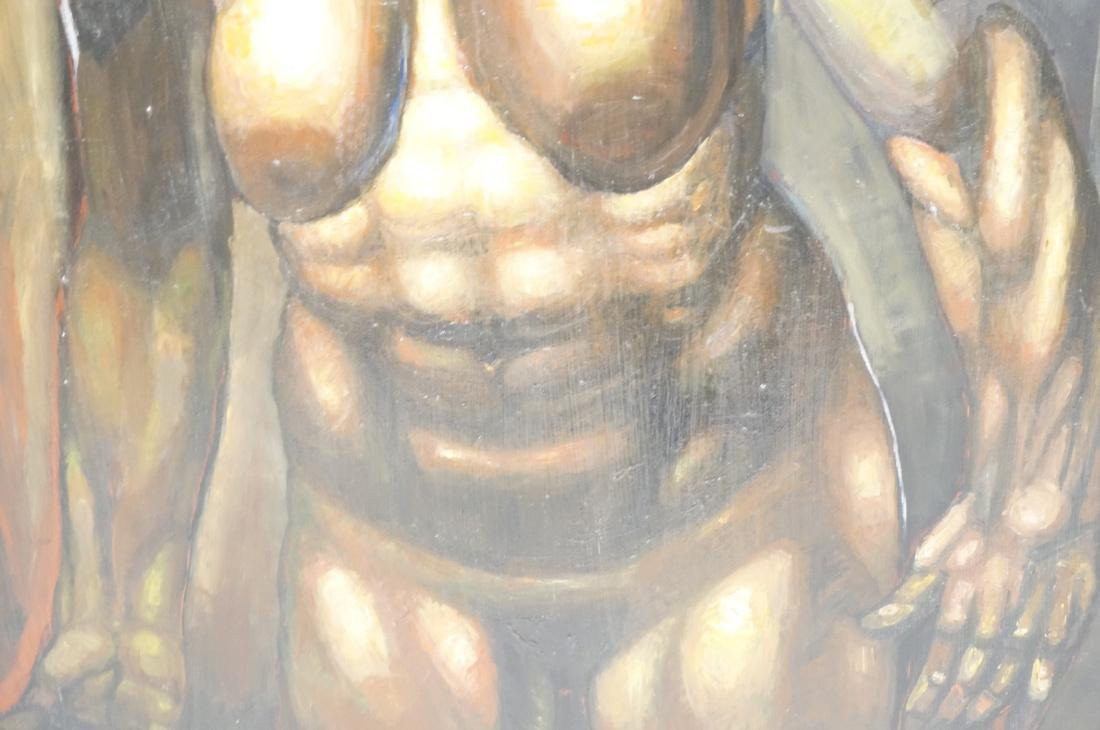 DARNELL EDWARDS Oil Painting Nude Torso Muscular - 4