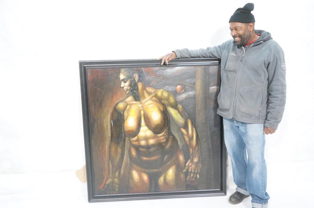 DARNELL EDWARDS Oil Painting Nude Torso Muscular - 6