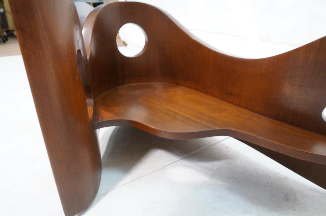 Stylish Modernist Organic Wood Cocktail Table. Gl - 4