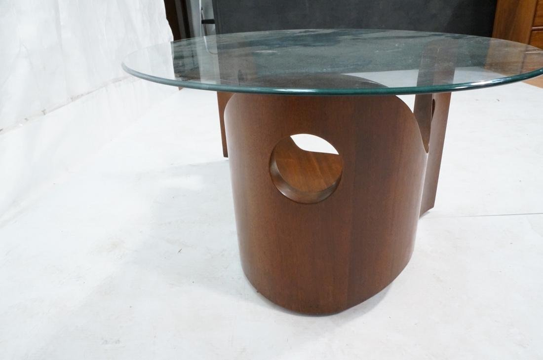 Stylish Modernist Organic Wood Cocktail Table. Gl - 6