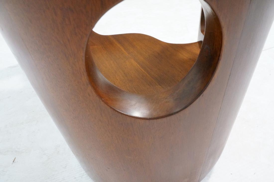 Stylish Modernist Organic Wood Cocktail Table. Gl - 7