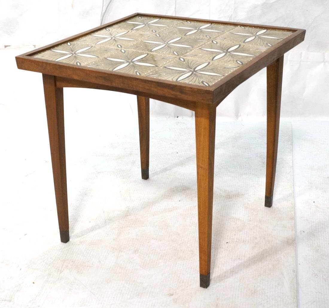 Small Removable Tile Top Modern Table. Small 4 le