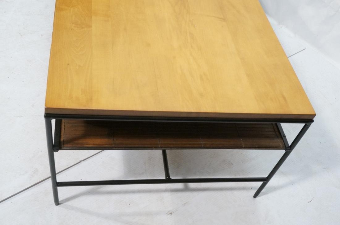 PAUL MCCOBB Maple 2 Drawer Coffee Table. Black ir - 3