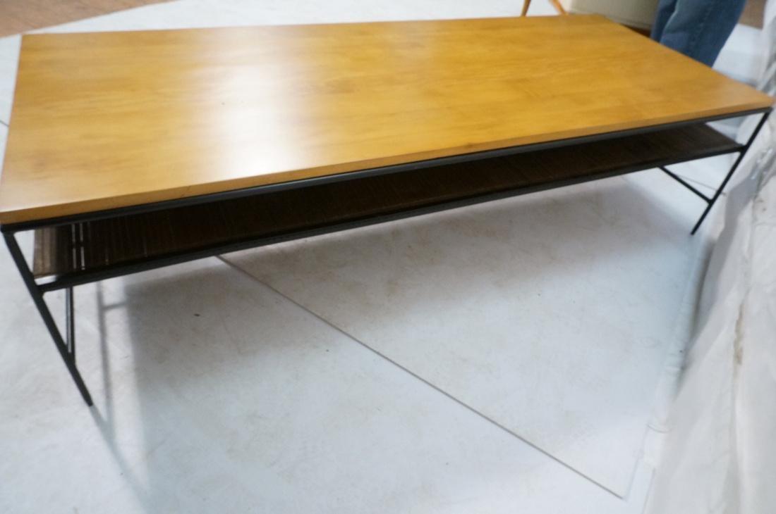 PAUL MCCOBB Maple 2 Drawer Coffee Table. Black ir - 8