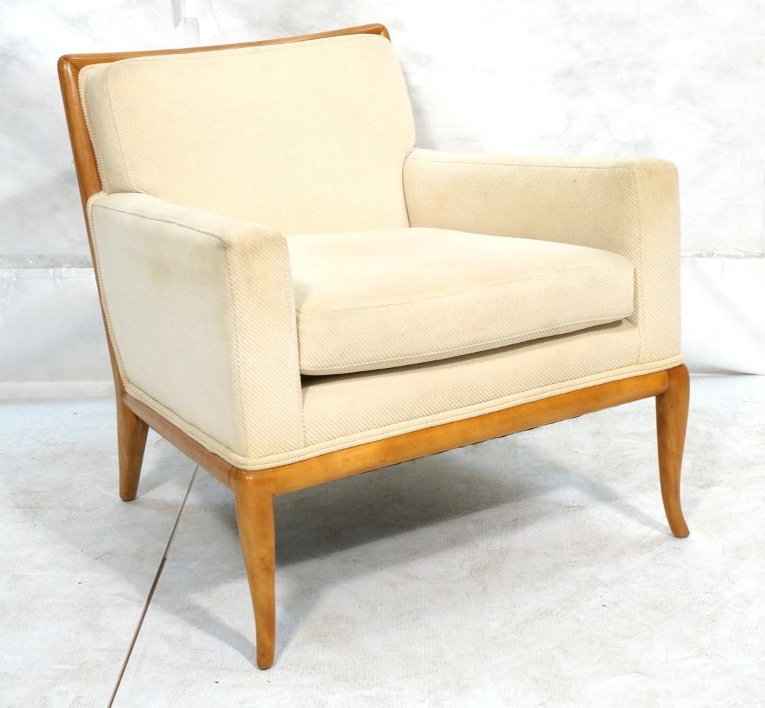 ROBSJOHN GIBBINGS Blond Wood Lounge Chair. Wood f