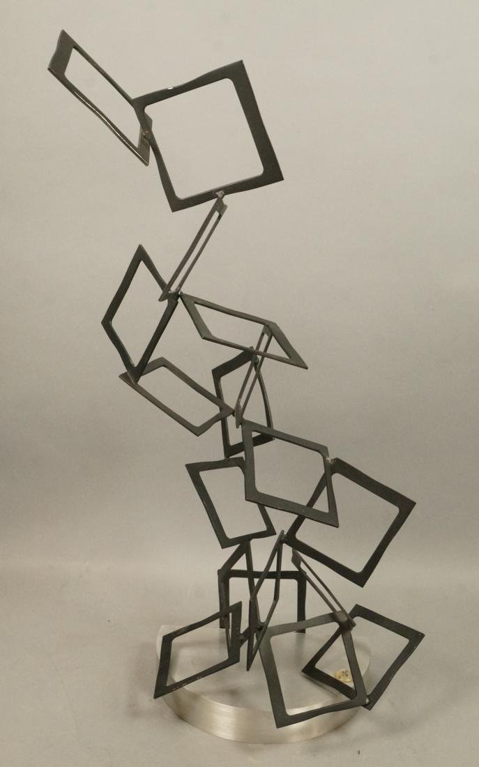 C JERE Modernist Geometric Square Form Sculpture.