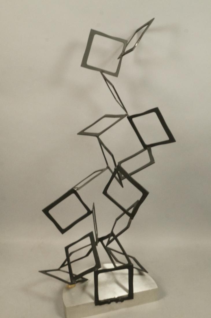 C JERE Modernist Geometric Square Form Sculpture. - 7