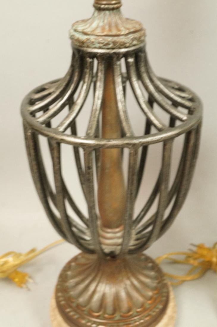 Pr Maitland Smith style Table Lamps. Open metal u - 3