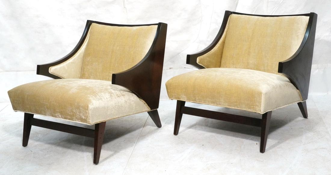 Pr Donghia style Modernist Lounge Chairs. Stylish