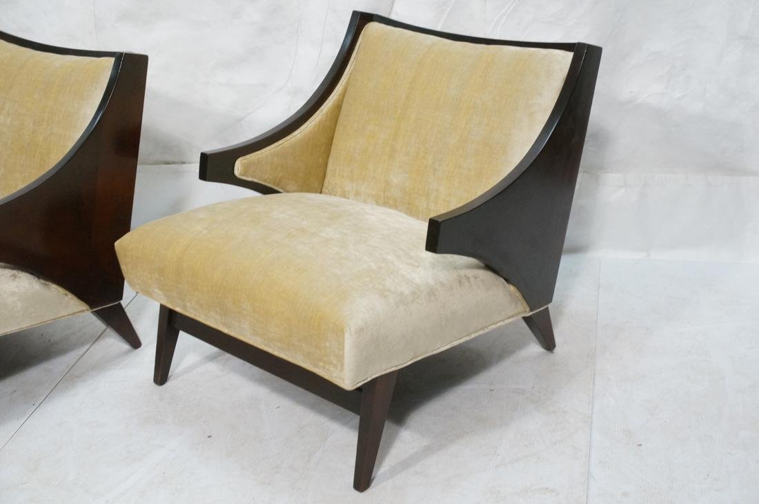 Pr Donghia style Modernist Lounge Chairs. Stylish - 2