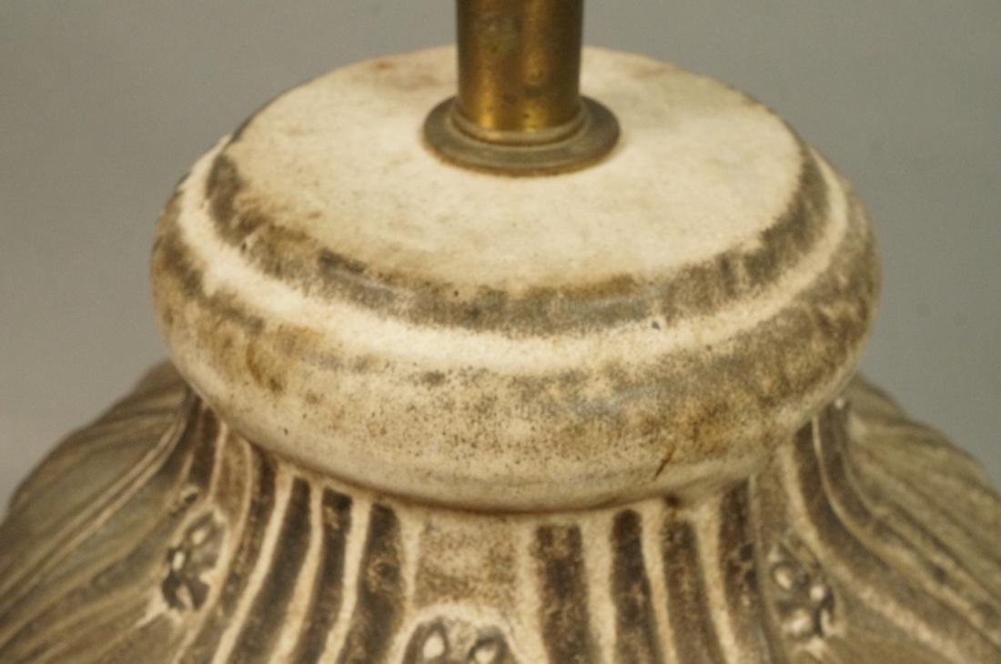 Large Textured Pottery Table Lamp. Relief design - 3