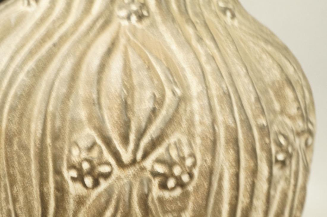 Large Textured Pottery Table Lamp. Relief design - 6