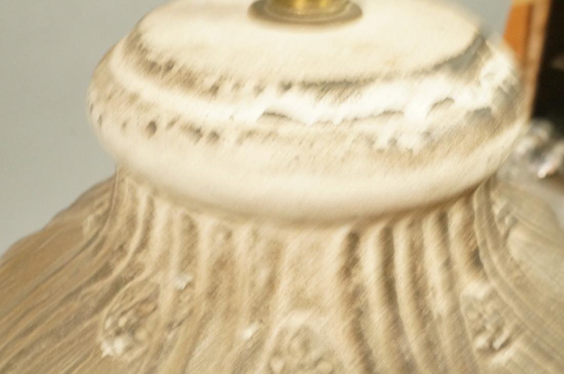 Large Textured Pottery Table Lamp. Relief design - 7