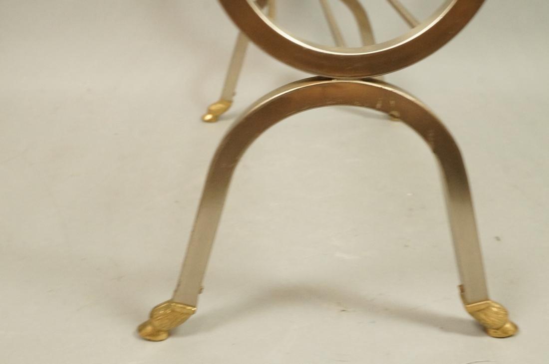 Italian Stainless Brass Rams Head Magazine Rack. - 7
