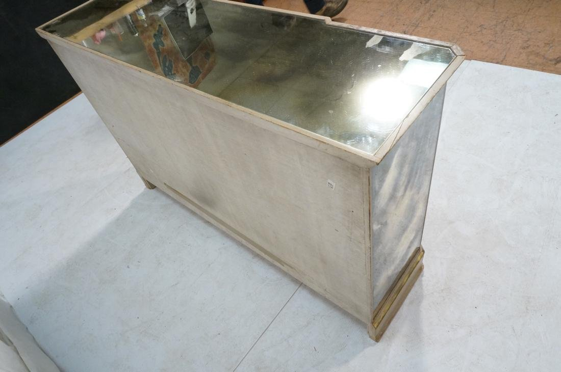 Decorator Eglomise Four Door Mirrored Cabinet. Cr - 10