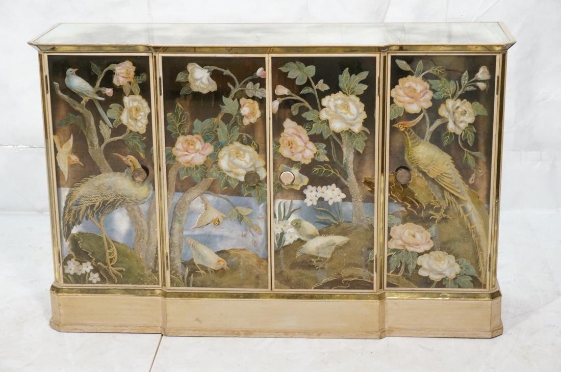 Decorator Eglomise Four Door Mirrored Cabinet. Cr - 2