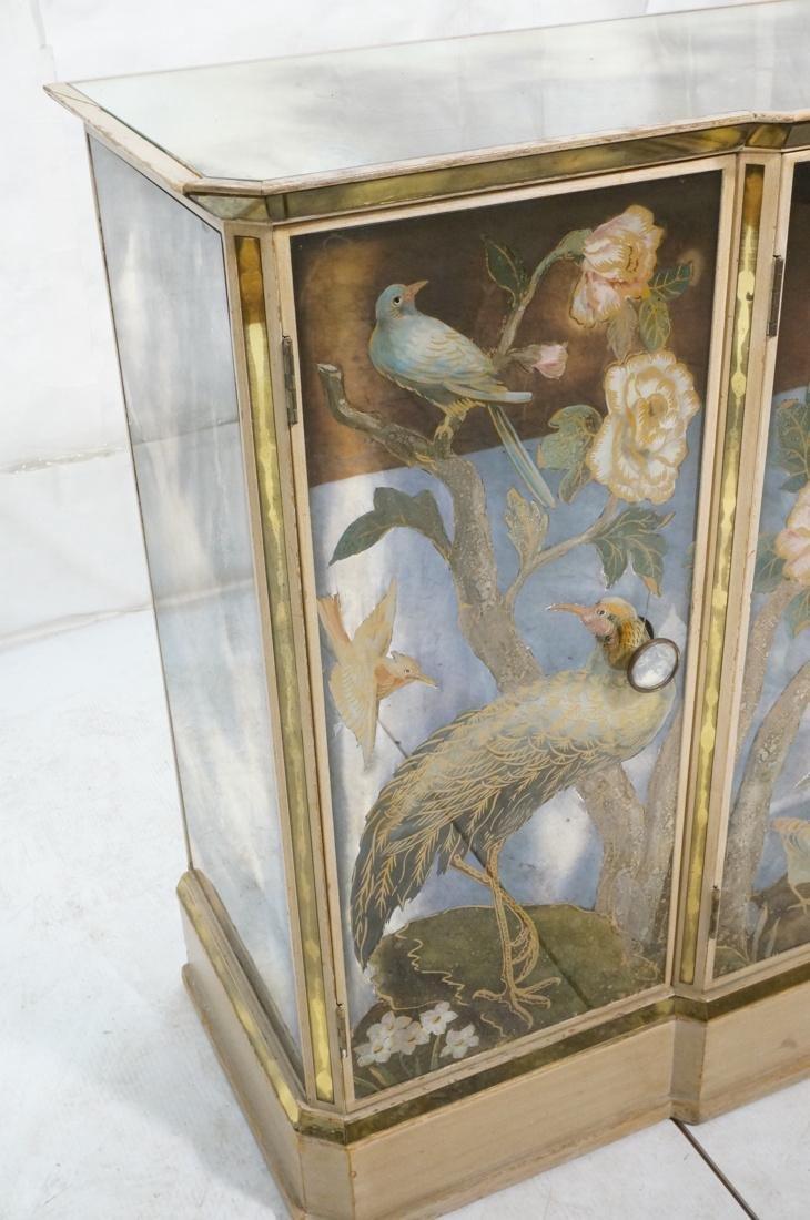 Decorator Eglomise Four Door Mirrored Cabinet. Cr - 4