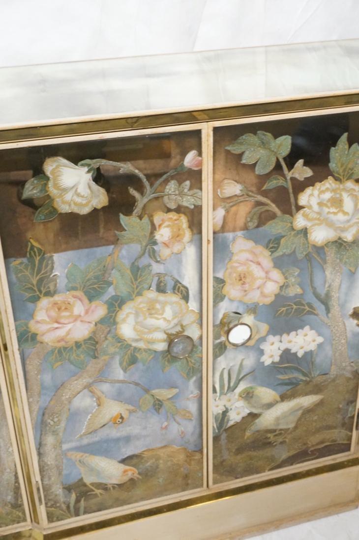 Decorator Eglomise Four Door Mirrored Cabinet. Cr - 5