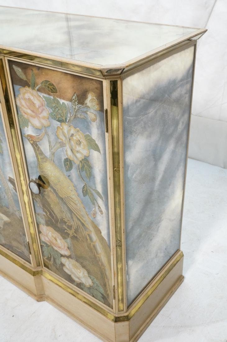 Decorator Eglomise Four Door Mirrored Cabinet. Cr - 6